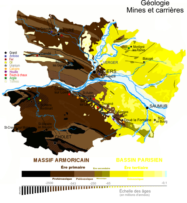 Géologie Maine-et-Loire